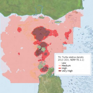 Green Turtle Relative Distribution in Torres Strait (Preview map)