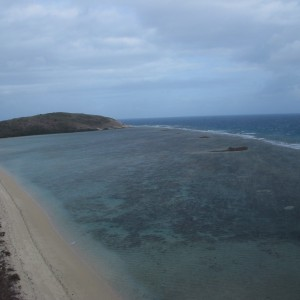 Twin Island - Aerial view of reef flat