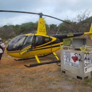 Dauan Island - Helicopter refueling